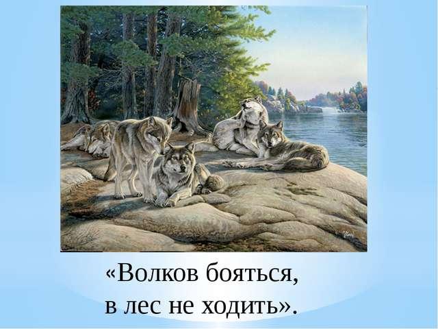 «Волков бояться, в лес не ходить».