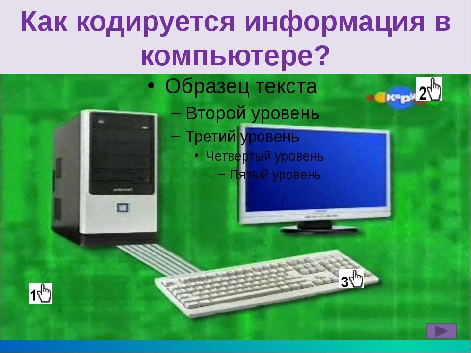 Запомни! В памяти компьютера информация представлена в двоичном коде. Буква...
