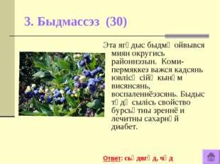 3. Быдмассэз (30) Эта ягӧдыс быдмӧ ойвывся миян округись районнэзын. Коми-пер