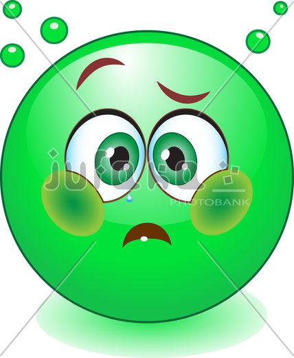 Зеленый смайл, иллюстрация. Иллюстратор: natalipopova2011. ID: 100100000151257
