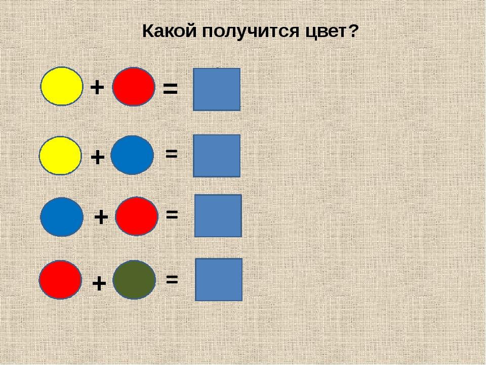 + = Какой получится цвет? + + +