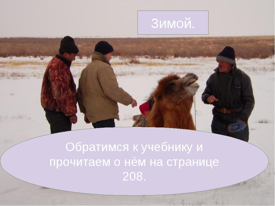 Зимой. Обратимся к учебнику и прочитаем о нём на странице 208.