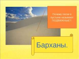 Барханы. Почему пески в пустыне называют ПОДВИЖНЫЕ?.