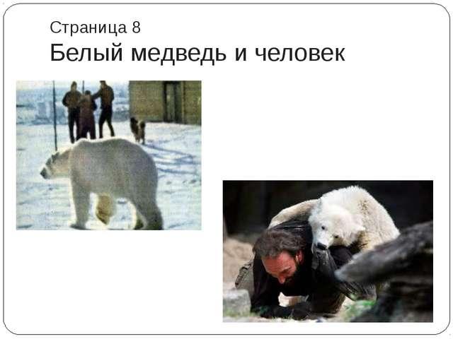 Страница 8 Белый медведь и человек