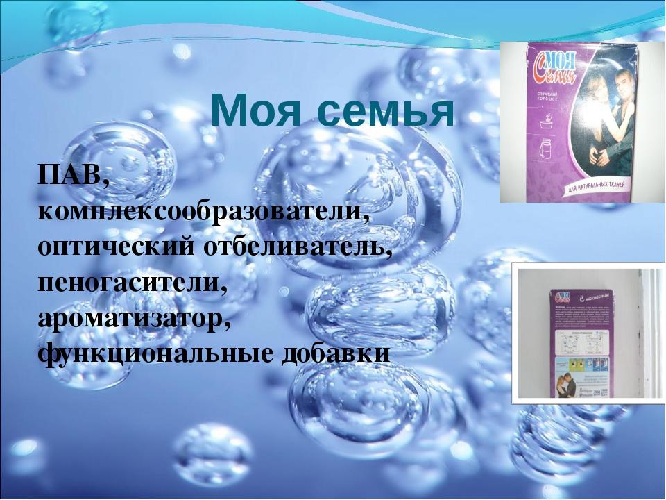 ПАВ, комплексообразователи, оптический отбеливатель, пеногасители, ароматизат...