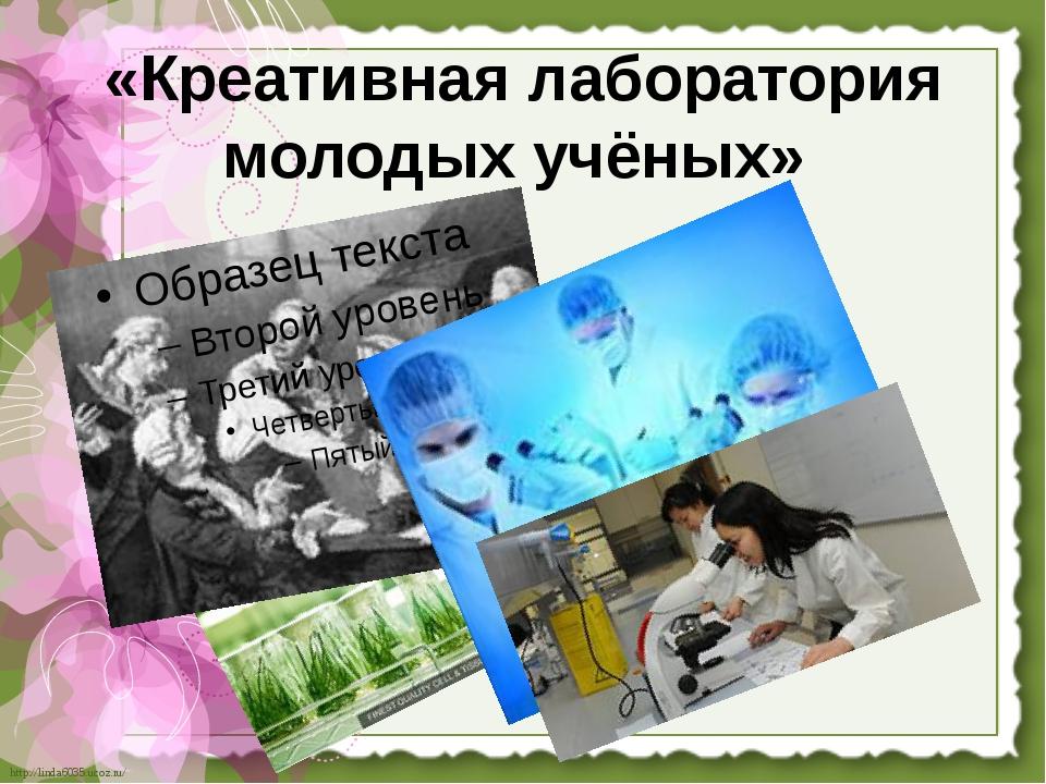 «Креативная лаборатория молодых учёных» http://linda6035.ucoz.ru/