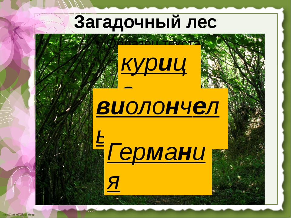 Загадочный лес курица виолончель Германия http://linda6035.ucoz.ru/