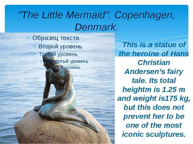 """The Little Mermaid"". Copenhagen, Denmark. This is a statue of the heroine of..."