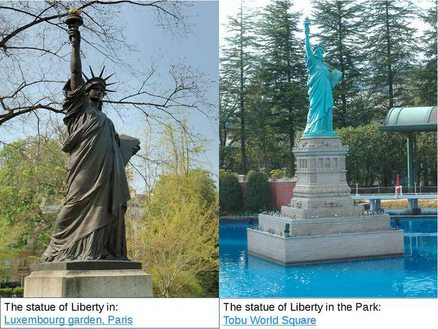 The statue of Liberty in the Park: Tobu World Square The statue of Liberty i...