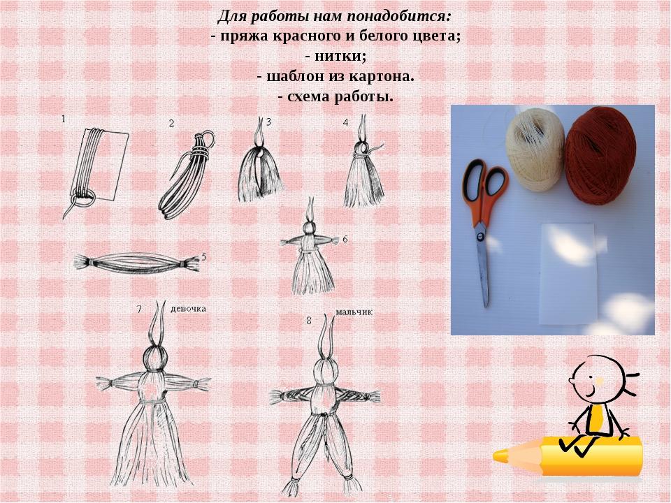 Как сделать куклу из ниток в домашних