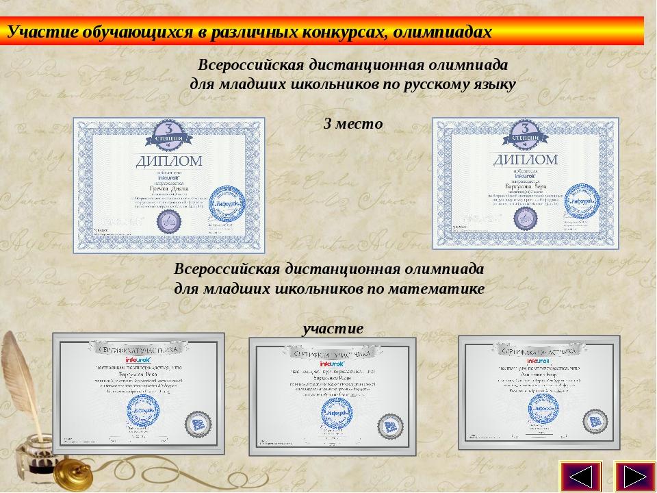 Всероссийская дистанционная олимпиада для младших школьников по русскому язык...