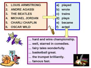 LOUIS ARMSTRONG ANDRE AGASSI THE BEATLES MICHAEL JORDAN CHARLI CHAPLIN OSCAR