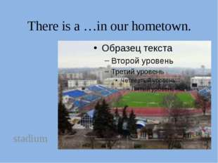 There is a …in our hometown. stadium