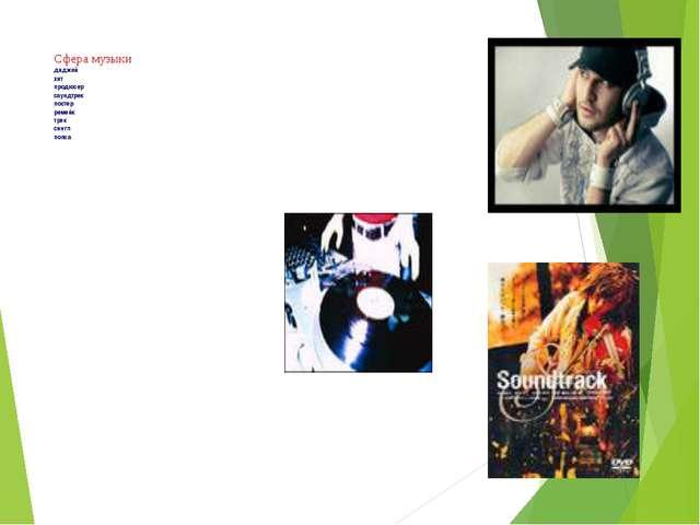 Сфера музыки диджей хит продюсер саундтрек постер ремейк трек сингл попса