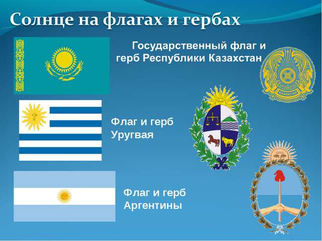 Флаг и герб Уругвая Флаг и герб Аргентины