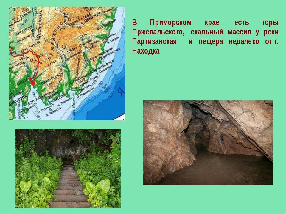 В Приморском крае есть горы Пржевальского, скальный массив у реки Партизанс...