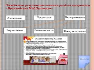 Ожидаемые результаты освоения раздела программы «Произведения М.М.Пришвина» Л