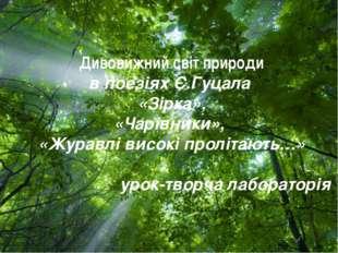 Free Powerpoint Templates Дивовижний світ природи в поезіях Є.Гуцала «Зірка»,