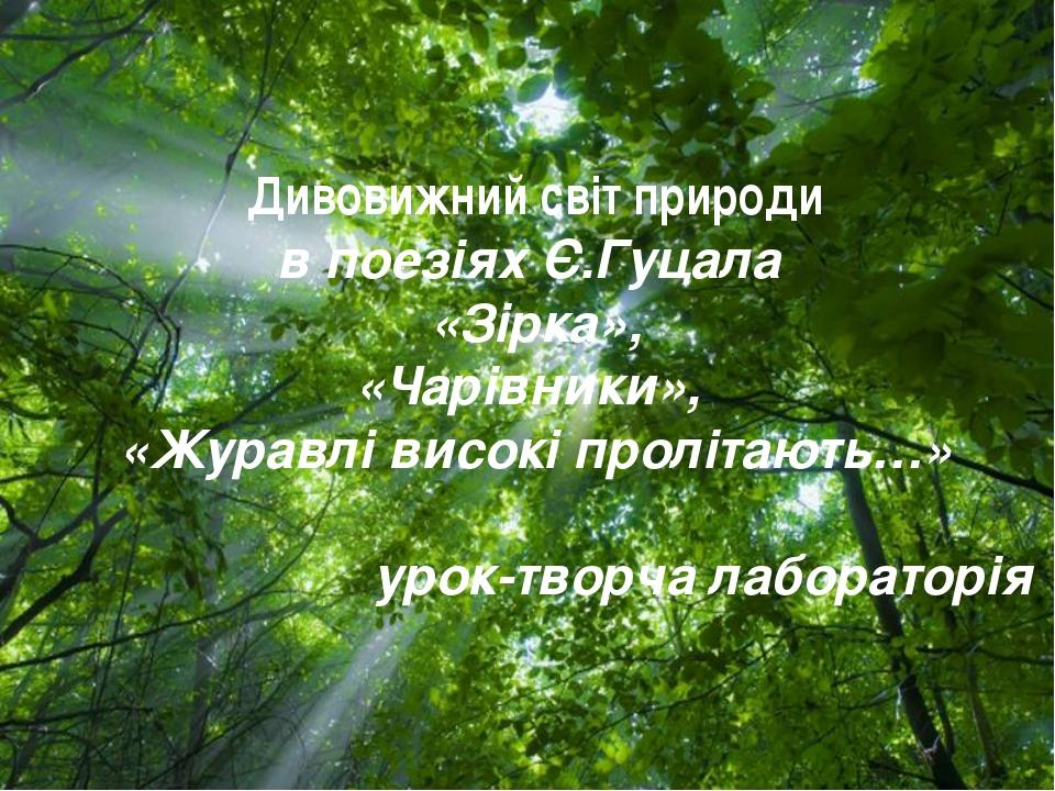 Free Powerpoint Templates Дивовижний світ природи в поезіях Є.Гуцала «Зірка»,...