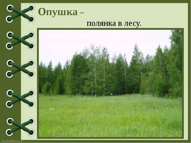 Опушка – полянка в лесу. http://linda6035.ucoz.ru/