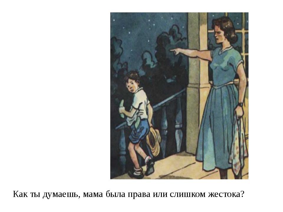 Как ты думаешь, мама была права или слишком жестока?