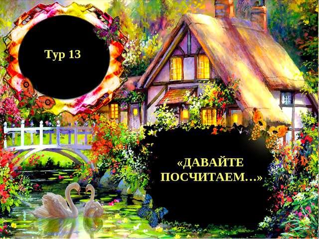 Тур 13 «ДАВАЙТЕ ПОСЧИТАЕМ…»