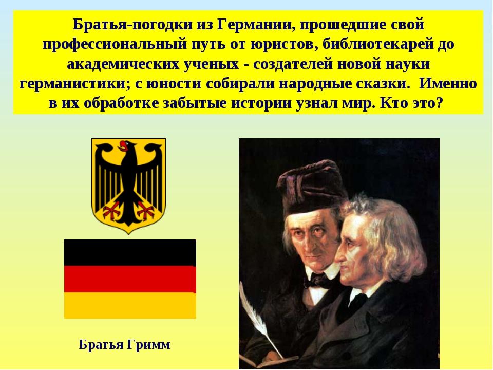 Братья-погодки из Германии, прошедшие свой профессиональный путь от юристов,...