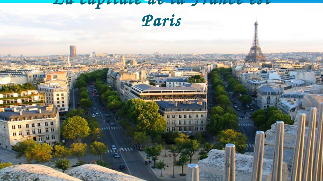 La capitale de la France est Paris