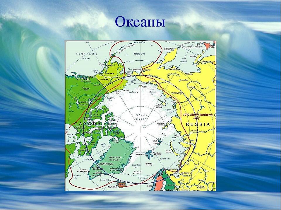 Океаны http://mashable.com/wp-content/uploads/2014/03/arctic-map.jpg Северный...