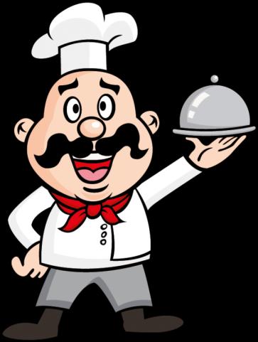 Весёлый нарисованный шеф повар с блюдом в руках скачать картинки, клипарты, фото, обои, рисунки, иконки, шрифты, векторный, раст