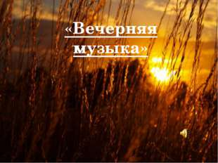 «Вечерняя музыка»