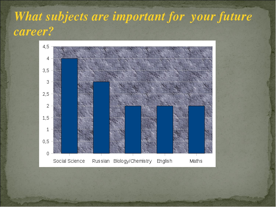 What subjects are important for your future career?