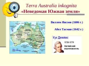 Terra Australia inkognita «Неведомая Южная земля» Виллем Янсзон (1606 г.) Абе