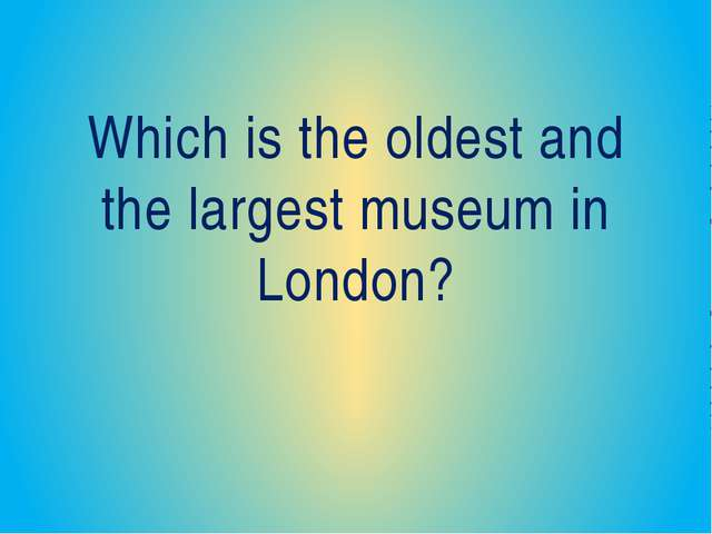 Who was one of the best British artists? His pictures are kept in the Nationa...
