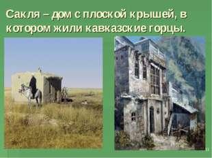 * Сакля – дом с плоской крышей, в котором жили кавказские горцы.