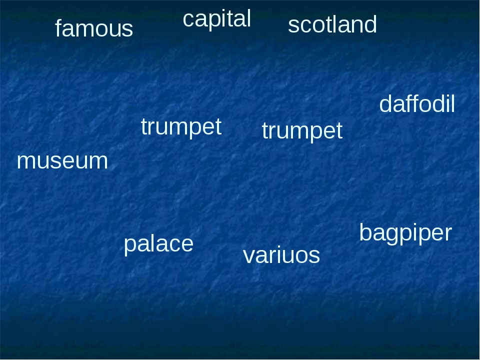 famous capital scotland daffodil palace trumpet trumpet variuos bagpiper museum