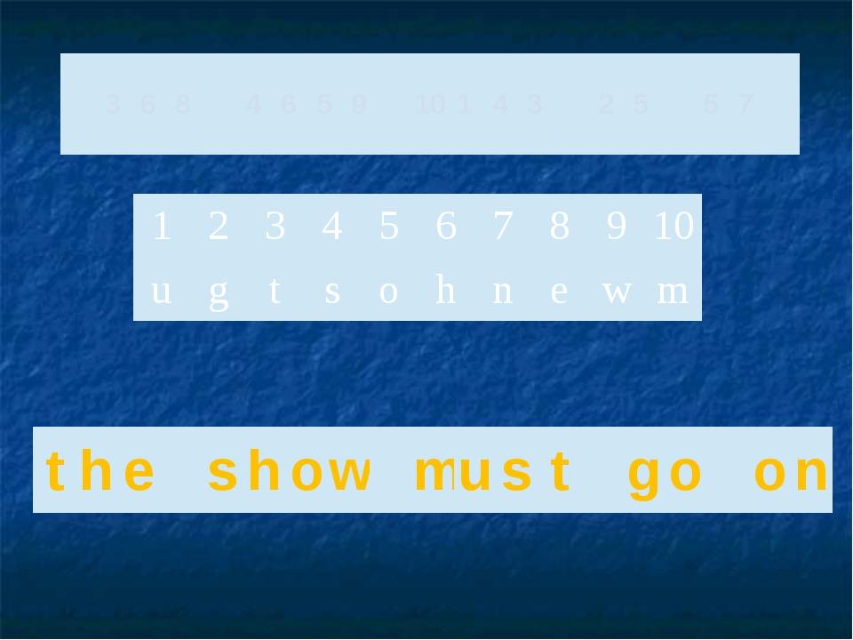 3 6 8 4 6 5 9 10 1 4 3 2 5 5 7 1 2 3 4 5 6 7 8 9 10 u g t s o h n e w m t h...