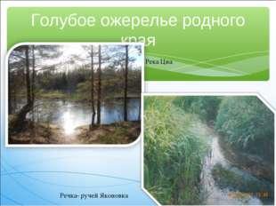 Голубое ожерелье родного края Река Цна Речка- ручей Яконовка