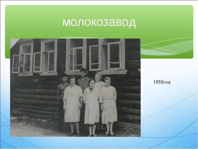 молокозавод 1955год