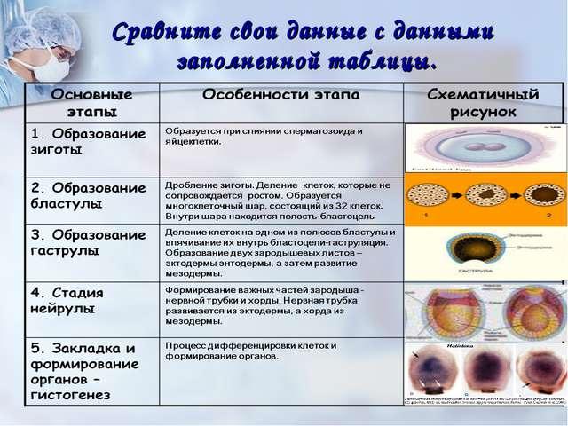 Эмбриология шпаргалка