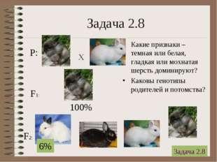 * Задача 2.8 Какие признаки – темная или белая, гладкая или мохнатая шерсть д