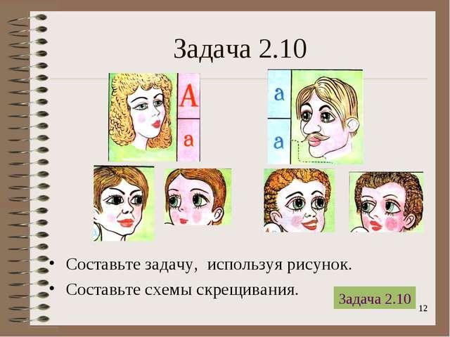 * Задача 2.10 Составьте задачу, используя рисунок. Составьте схемы скрещивани...
