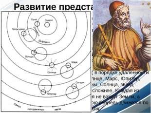"""Во 2 веке н.э. александрийский астроном Птолемей выдвинул свою """"систему мира"""""""