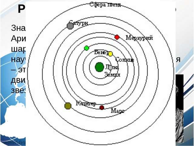 Развитие представлений о Земле Знаменитый ученый древности Аристотель не толь...
