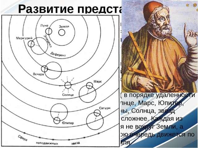 """Во 2 веке н.э. александрийский астроном Птолемей выдвинул свою """"систему мира""""..."""