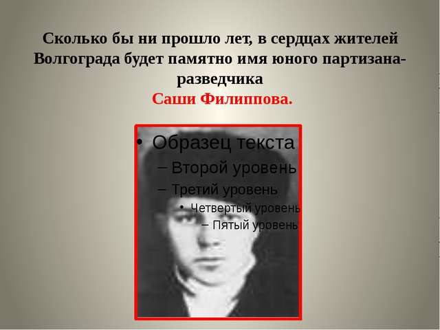 Сколько бы ни прошло лет, в сердцах жителей Волгограда будет памятно имя юног...