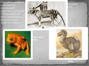Есть книга, в которой описываются исчезнувшие животные и растения (Чёрная кни