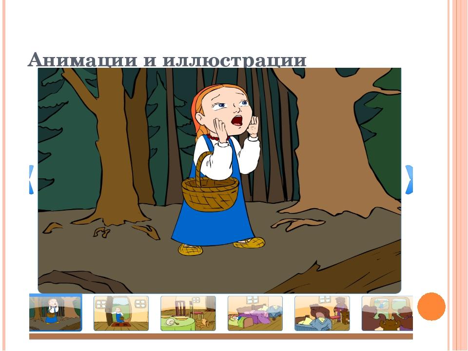 Анимации и иллюстрации