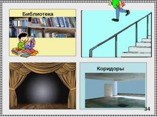 Библиотека Актовый зал Лестничные проемы Коридоры 34