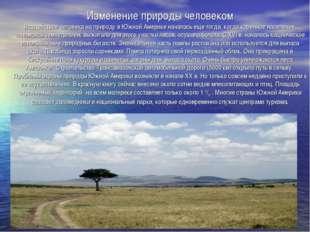 Изменение природы человеком Воздействие человека на природу в Южной Америке н